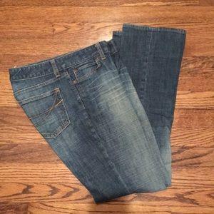 GAP Curvy Straight Distressed Jeans
